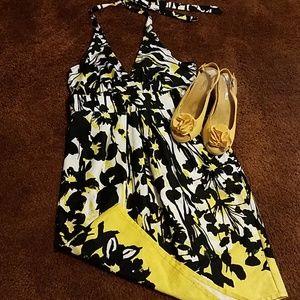 Washable halter dress